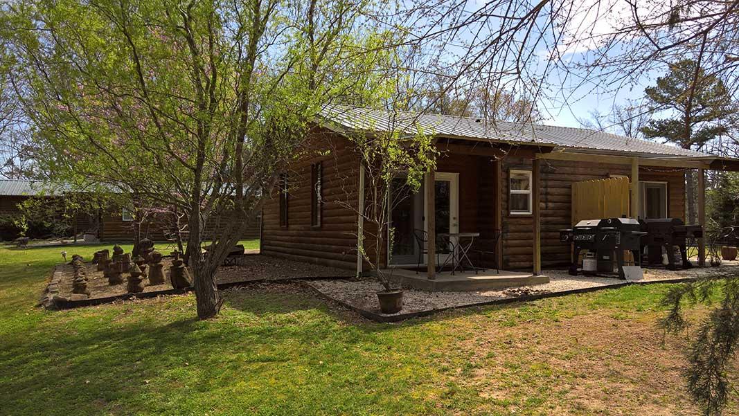 Sugar Suite Cabin 1 Covered Patio Entrance