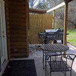 Sugar Suite Cabin 1 Covered Patio Gas and Charcoal Grille
