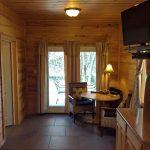 Sugar Suite Cabin 1 Dining to Patio