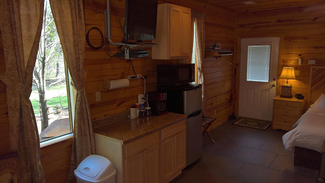 Sugar Suite Cabin 1 Kitchenette View